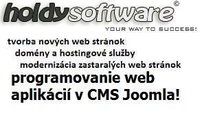 holdysoftware - nové web stránky, programovanie web aplikácii v Joomla!